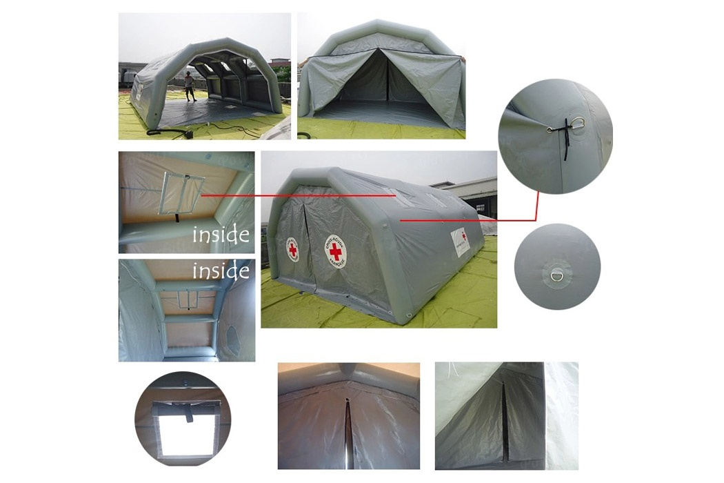 IT013 Custom outdoor medical rescue tent Rapid set up inflatable shower and disinfection tent